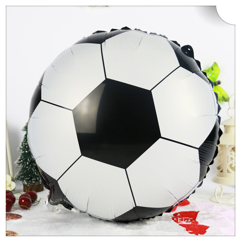 "Free Shipping 1pc 18"" Round Soccer/Football Balloons Inflatable Toys For Children Games Kids Happy Birthday Party Decorations(China (Mainland))"