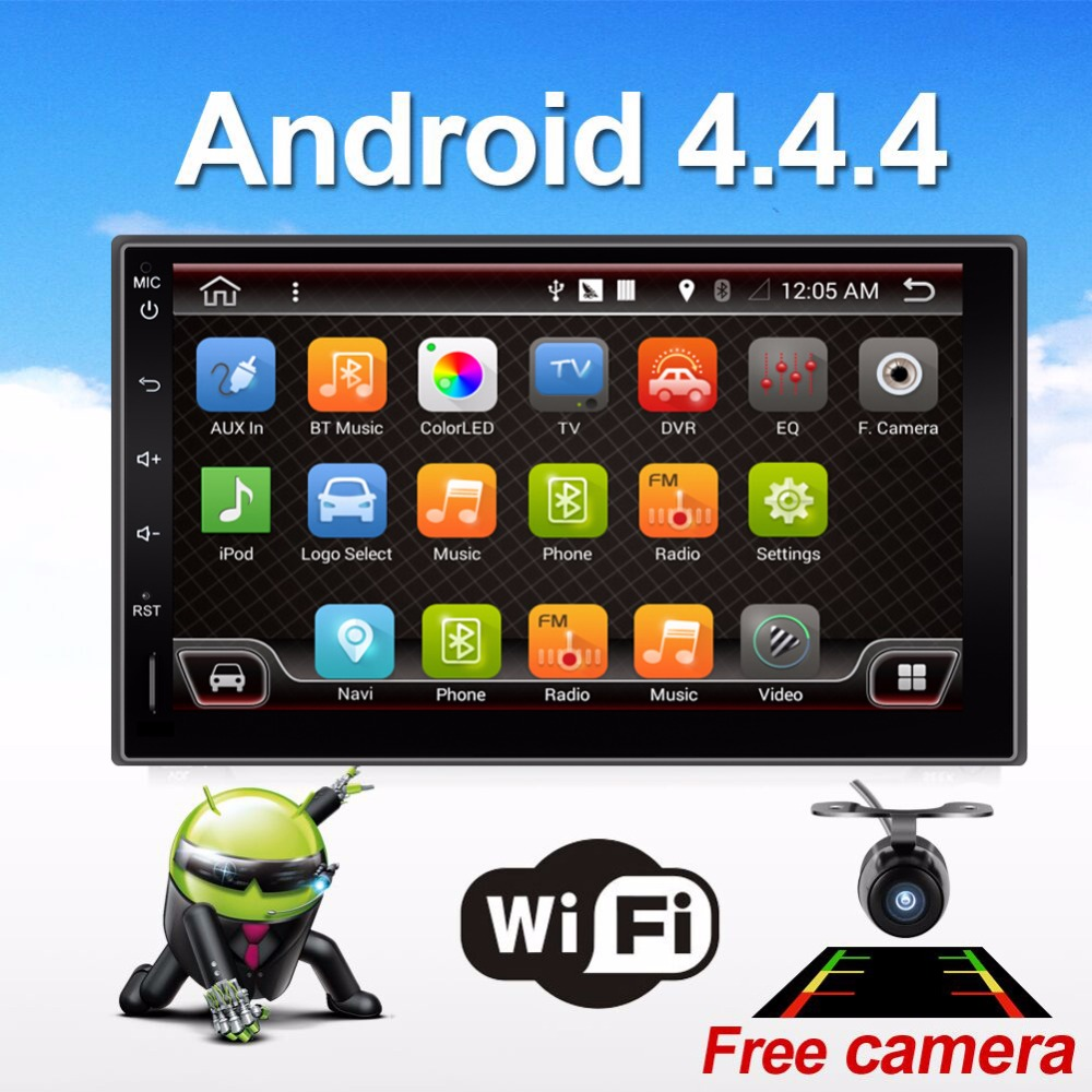 Quad 4 Core 7 INCH 2 Din Android 4.4 Car Audio Non-DVD Stereo Radio GPS TV 3G WiFi GPS Navigation Head Unit For Universal VW Car(China (Mainland))