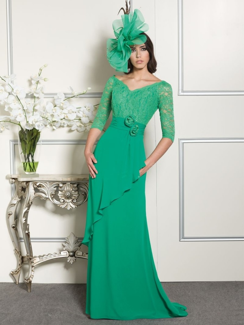 New arrival 2015 v neck gorgeous long beach mother of the for Wedding guest designer dresses