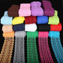 5yards/lot 19 Colors Lace Ribbon Tape 45MM Lace Trim Fabric DIY Embroidered Net White Lace Trim Cord For Sewing Decoration(China (Mainland))