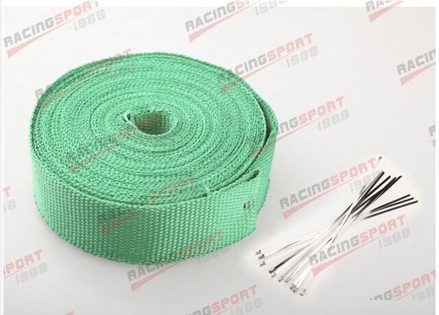FIBERGLASS Exhaust Thermo Wrap Tape High Heat 2 x 1/16X50FT Cloth Roll GREEN<br><br>Aliexpress