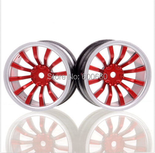 4x Wheel Rim D:52mm W:26mm Offset 6mm HSP HPI 1:10 On-Road Drift Car Tire 711A(China (Mainland))