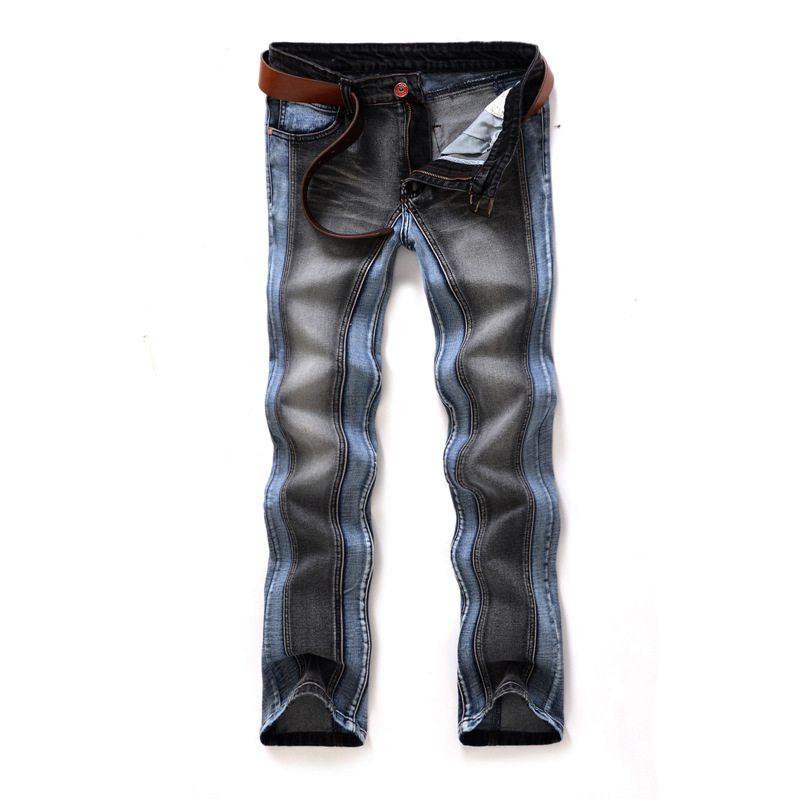 2014 rock mens jeans italian brands jeans for men straight men's denim trousers two color space 1018(China (Mainland))