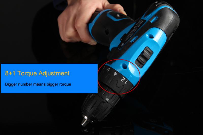Купить 25 В аккумуляторную дрель бит с 2 шт. Литиевая аккумуляторная Батарея электрическая отвертка инструмент власти + 27 шт. аксессуары