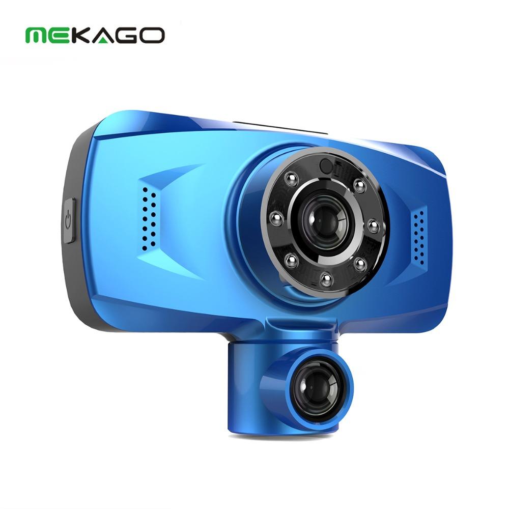 2.7 HD 1080P Dual Lens Car DVR NTK 96632 Bluetooth 240 Degree ultra-wide Video Recorder +330 Degree Rotatable Lens Car Dashcam<br><br>Aliexpress