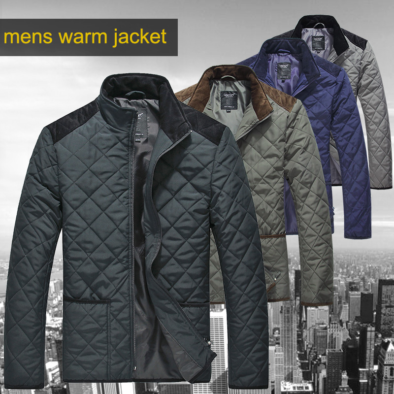Lesmart Mens Winter Cotton Padded Coat Warm Quilted Jacket Windproof Plus Size Patchwork Outerwear Big-tall Parka - Qingdao Textile Co., ltd store