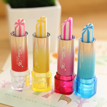 New Arrive 6pcs/lot 9039 Lipstick Design Student Eraser Rubber, Children Eraser, Office & School Supplies, Free Shipping(China (Mainland))