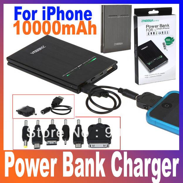 10000mAh USB External Backup Battery Power Bank for iPhone iPod iPad mobile Phone Universal Battery Charger, Free Shipping(China (Mainland))