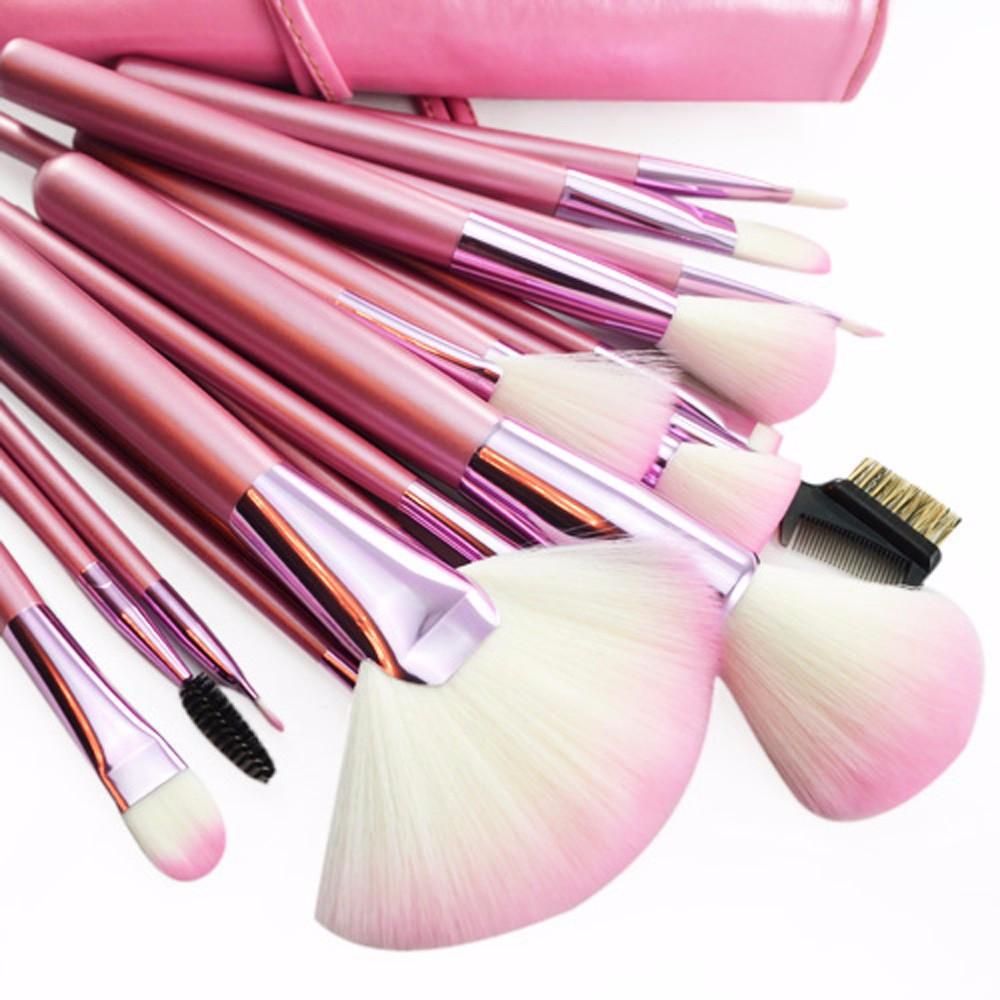 Original 22 PCS COMPLETE SET PINK MAKEUP BRUSH 22 PCS professional makeup brush set of tools manufacturers spot(China (Mainland))