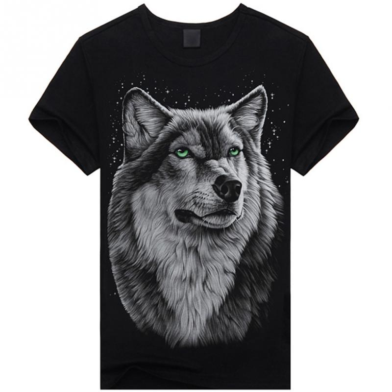 Summer Style Skull Printed 3D T Shirts Short Sleeve Men Tshirts ONeck Top Tees Casual Wolf guitar Style 3D Cotton T-shirts *K(China (Mainland))