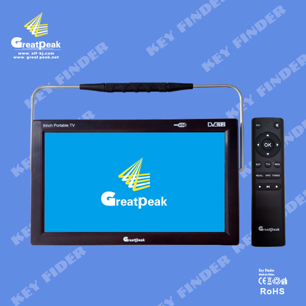 European market 9 inch portable mpeg4 dvb-t dvb-t2 lcd digital hd tv, digital TV all in 1, USB(China (Mainland))