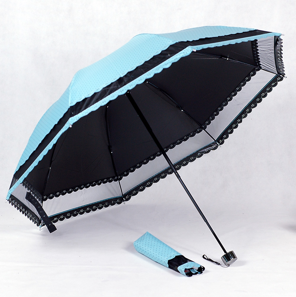 Korean small Lace Princess arched umbrella black glue strong UV sunscreen sun seventy percent off sun umbrella(China (Mainland))