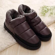 2017 mujeres de invierno botas de nieve caliente de la felpa por botín impermeable zapatos botas de mujer zapatos de tacón bajo casuales feminnina tamaño grande 42 43(China (Mainland))