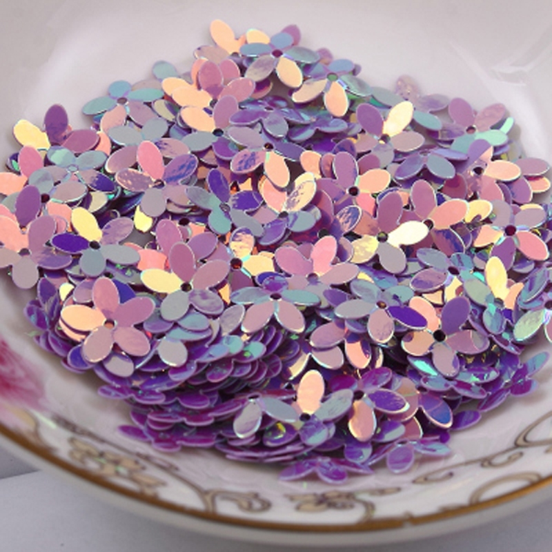 Free Shipping 100pcs 10mm wholesale Flower Loose Sequins Paillettes Sewing,Wedding Craft,Women Kids DIY Garment Accessories(China (Mainland))