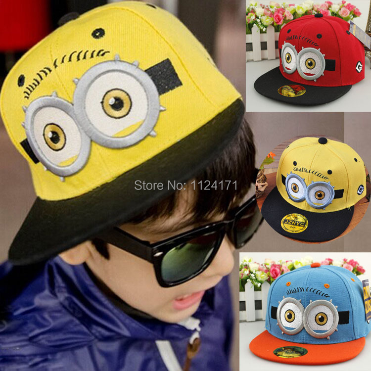 Fashion Snapback Children Cartoon Big Eyes Baseball Cap Spring Summer Visor Flat Hats For Boys Girls Kid Sport Caps(China (Mainland))