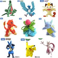 Original Pocket Monster Pikachu Squirtle Bulbasaur Pokemon animal doll animal Action Figures model toy(China (Mainland))