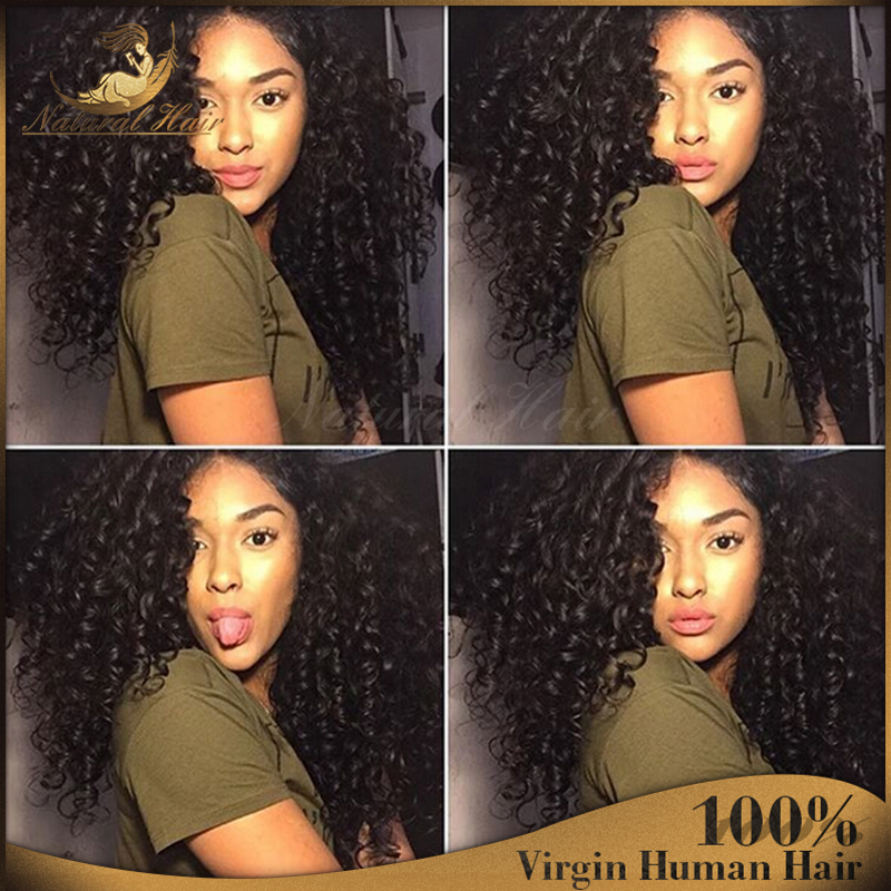 7A Top Grade Front Lace Wig Virgin Human Hair Wigs Cheap Glueless Full Lace Human Hair Wigs For Black Women(China (Mainland))