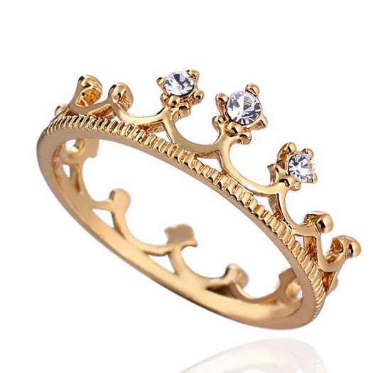 2014 Hot Sale 18K Gold Plated New design ring Crown Ring Party Rings for women Wholesale
