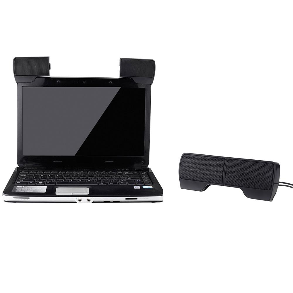 Фотография 2014 Mini Portable Loudspeaker USB Stereo Speaker Soundbar for Notebook Laptop Mp3 Phone Music Player PC with Clip