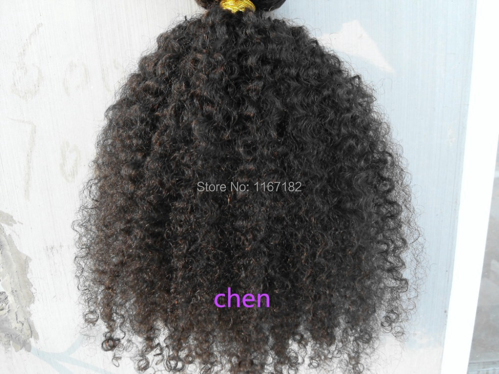 Brazilian Curly Hair Extensions Clip in Brazilian Hair Extensions Afro