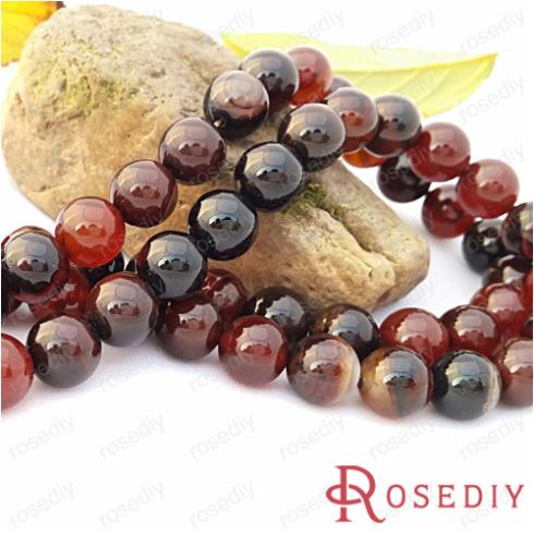 Wholesale Diameter 10mm Round Natural Magic Agate Beads Diy Jewelry Findings Accessories a String Roughly 35 pieces(JM6773)