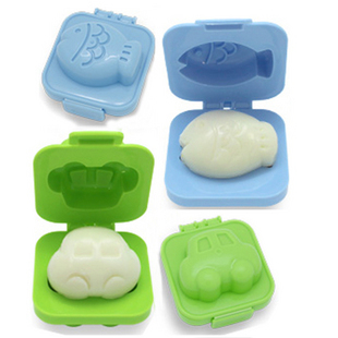 Cute Fish Car Shape Rice Mold Mould plastic Sushi Rice Mould Cutter Bento cake chocolate boiled egg mold Mould