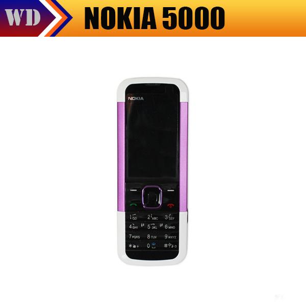 Original phones Nokia 5000 GSM unlocked phone 1.3MP Camera Bluetooth FM MP3 JAVA(China (Mainland))