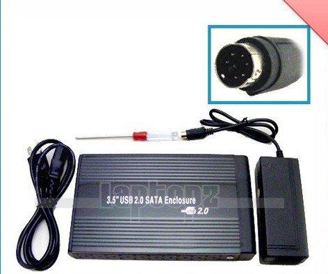 3.5 inch USB 2.0 HDD SATA Hard Disk Drive Enclosure Case, Free Shipping(China (Mainland))