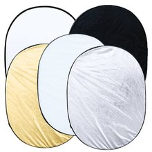 "New Hot 5 in 1 collapsible reflector oval photo studio 90 x 120 cm (35 ""x 47 ')"