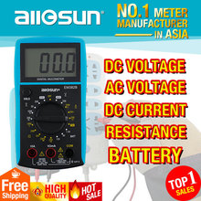 ALL-SUN EM382B LCD display digital multimeter Voltage DC/AC multimeter Continuity Current DC resistance battery Diode tester