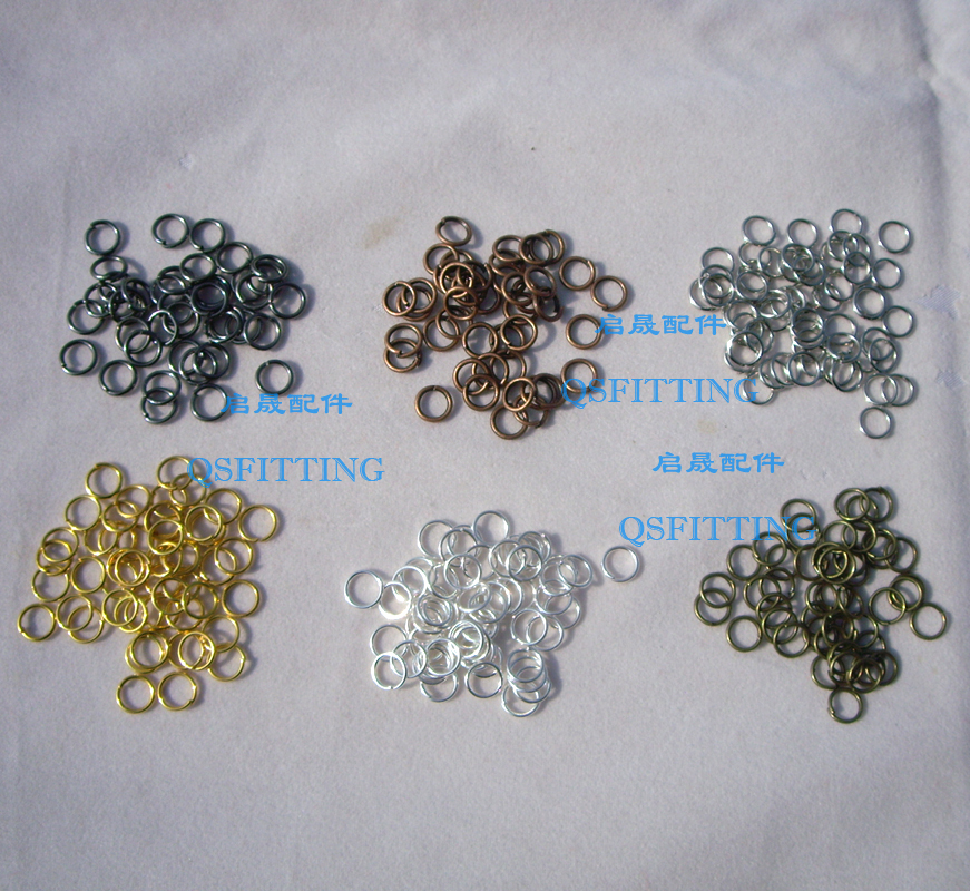 100pcs/lot jewlery findings and components,6 different plating,alloy connectors for bracelets(China (Mainland))