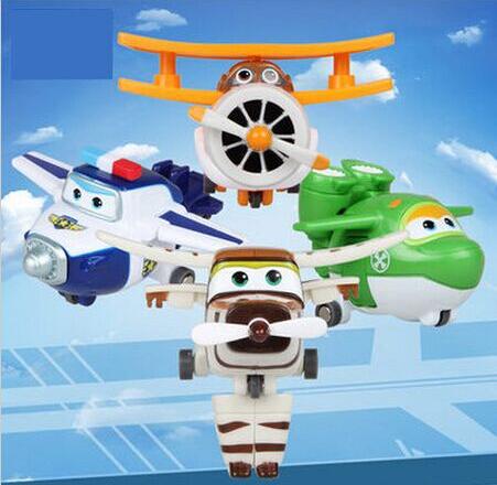 Newest 4pcs/set Anime Brand Planes Toys Transformation Airplane Robot Action Figures Boys & Girls Birthday Gift Brinquedos(China (Mainland))