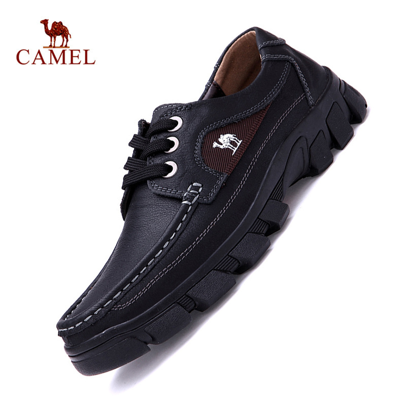 2015 New Authentic Camel Genuine Leather ankle boots men flats shoes Lace-Up Casual Outdoor shoes Men Oxford shoes Autumn Boots