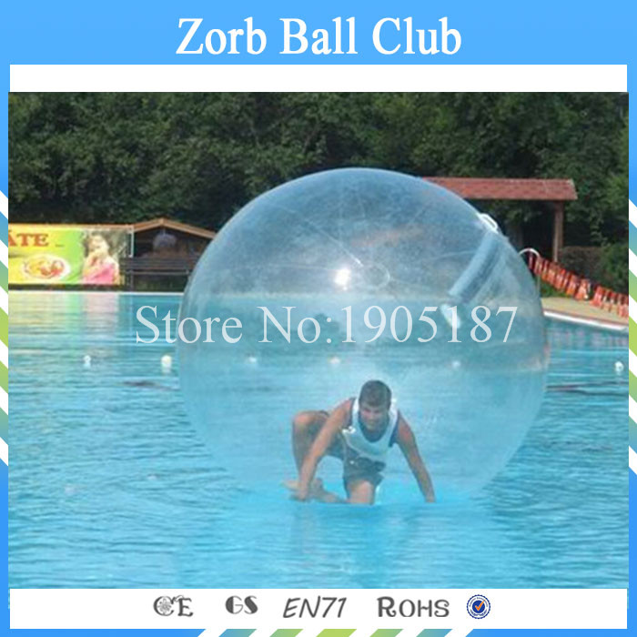 CE certification 2m diameter 0.8mm thickness TPU Inflatable Zorb Water Walking Ball Walk On Water(China (Mainland))
