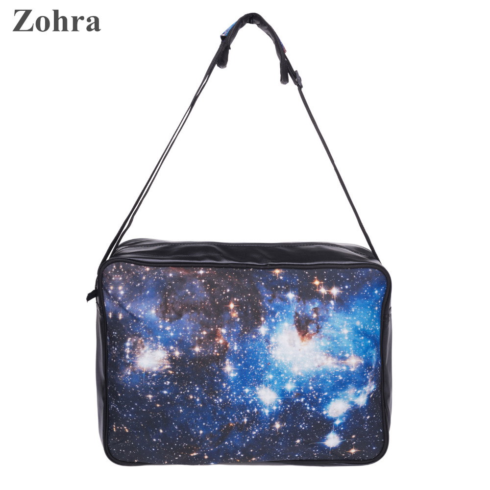 Galaxy Blue Zohra 3D Printing Vogue Brand Women Novel Messenger Bags Crossbody Bag Mochila Feminina Man Office Leather Handbag<br><br>Aliexpress