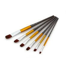 Nylon Hair Watercolor Round Pointed Tip Art Painting Brush Set  Drawing Pen 3 Colors(China (Mainland))