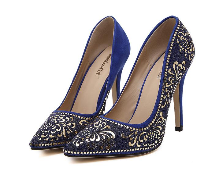 Sexy Pointed Toe High Heels Fashion Brand New Stiletto Pumps Sequined Hot Sale Plus Size 35-40 Party Shoes Women 655(China (Mainland))