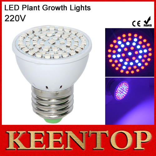 1 шт. полный спектр E27 60 светод. быстрее света выращивания 41Red + 19 синий из светодиодов растет лампы для цветы растений гидропонике из светодиодов лампы освещения