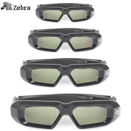 4pcs x SainSonic Zebra 144Hz 3D DLP Glasses for BenQ Vivitek Optoma Projector Black 10M Active 3d Glasses Virtual Reality<br><br>Aliexpress