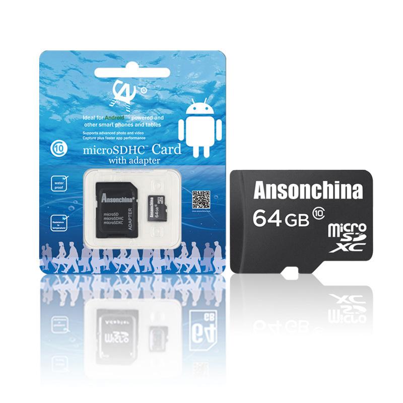 Pass H2testw!! New Brand Real capacity Class 10 Micro SD card Pass H2testw 32GB 64GB 8GB 16GB Black Memory Card TF Card(China (Mainland))