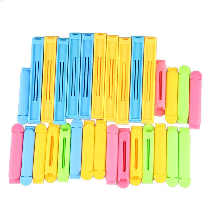 Гаджет  Attractive Sealing Clip Set of 30 assorted Colors and Sizes Keep Food Fresh None Дом и Сад