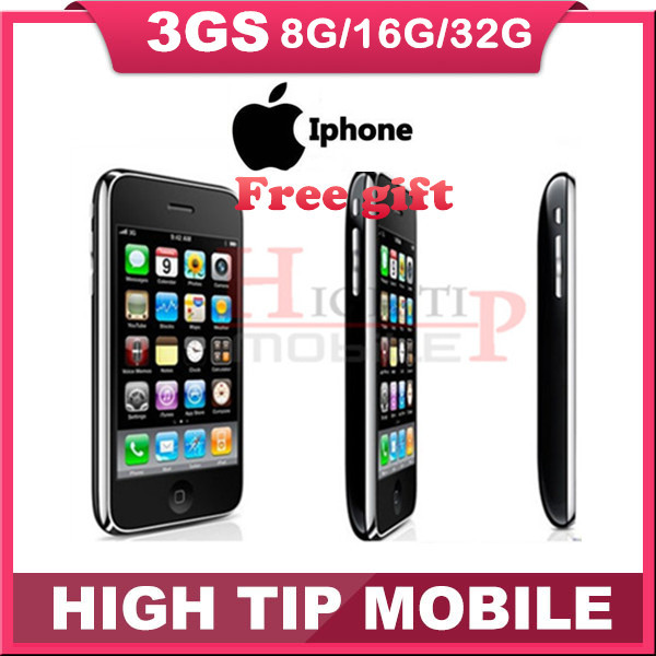Free Gift In sealed box iphone 3GS 8GB/16GB/32GB original factory unlocked mobile phone Freeship 1 year warranty(China (Mainland))