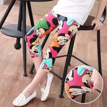 2016 Summer girls pants Girls legging for 2-7 Year Children Leggings quality milk silk fade anti pilling cartoon girl Leggings