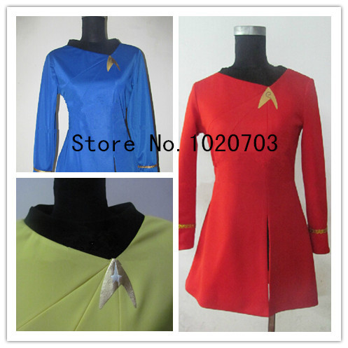 Star Trek La Patrouille du Cosmos Raumschiff Enterprise Stelliter Viaje a las Estrellas heroine Dress Cosplay Costume(China (Mainland))