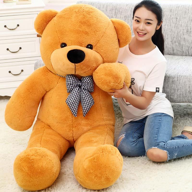 100cm big teddy bear giant bear stuffed toy doll lift size teddy bear plush toy valentine day