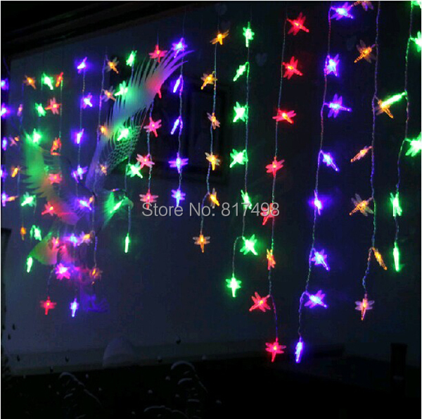 Outdoor String Lights That Change Colors : 20LEDs Decoration Color-Changing Waterproof Outdoor Party Christmas Dragonflies Solar Power ...