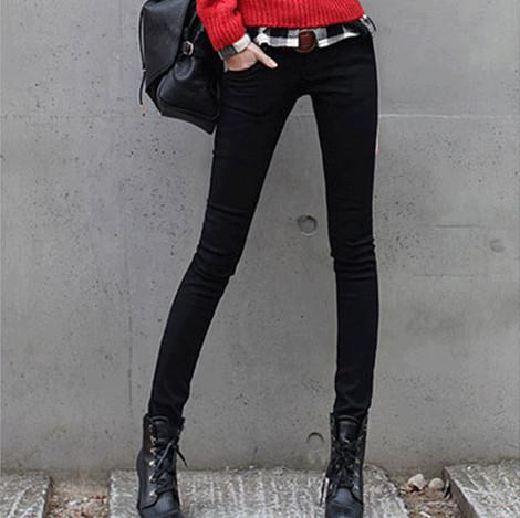 2015 высокое качество женские летние джинсы женщина среднего талии молния тощий карандаш брюки женские джинсы