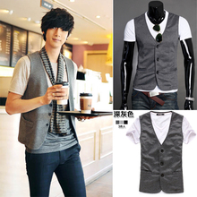 Male knitted vest fashion men casual blazer vests(China (Mainland))
