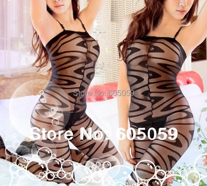with Retail Box Sexy Lingerie Women Body Stockings Black Open Ass Sex Socks Clothing sleepwear costumes Nightdress uhu226(China (Mainland))