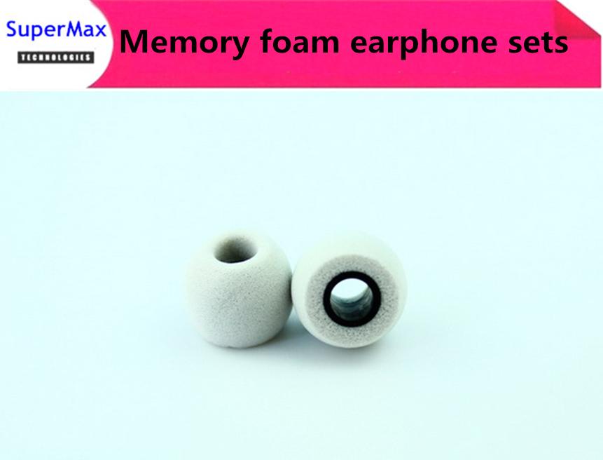 Hot sale 50Pairs Comply Ts-400 isolation headphones Tips memory foam sponge earphone sets comfort Earphone Tips Grey(China (Mainland))